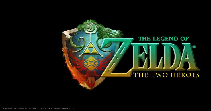 The Legend of Zelda The Two Heroes Logo by SoyUnGnomo on DeviantArt