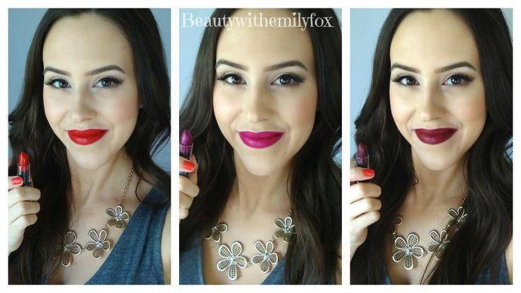NYX Matte Lipsticks - New Shades 2014 Lip Swatches. L-R ...