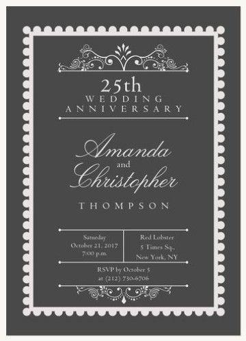 tarjetas para bodas de plata de invitacion