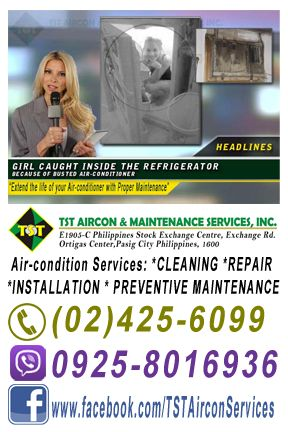 GIRL CAUGHT INSIDE THE REFRIGERATOR   SEE WHAT HAPPENS NEXT...  TST Aircon & Maintenance Services, Inc.  (Installation, Repair & Maintenance for Industrial & Residential Customers)  Provides air-condition services: ***Installation ***Check-up & Repair ***Cleaning & Preventive Maintenance  FREEBIES & DISCOUNTS!!! - Free Consultation - Offers Discount for Multiple Serviced Units - Affordable Service Fee  We service anywhere in Metro Manila