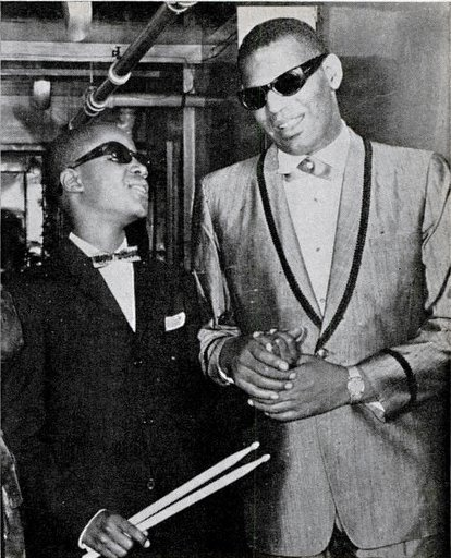 Stevie Wonder + Ray Charles