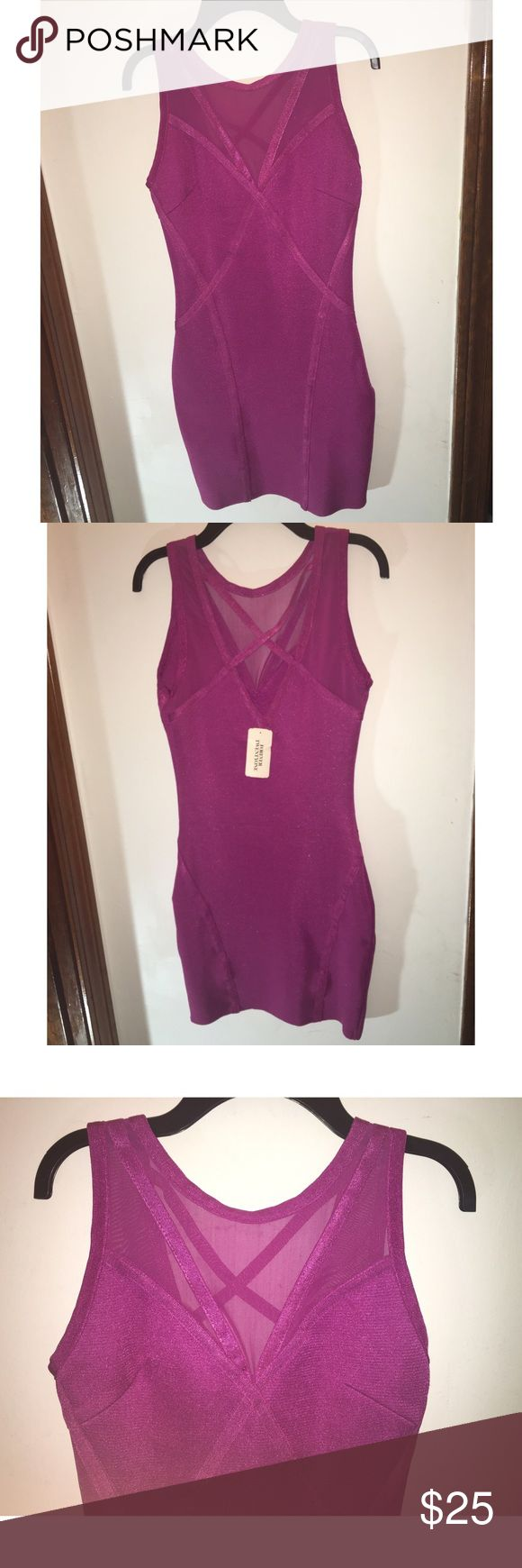 Light purple bandage dress! The perfect night out dress. Never worn.      Size: S Dresses Mini