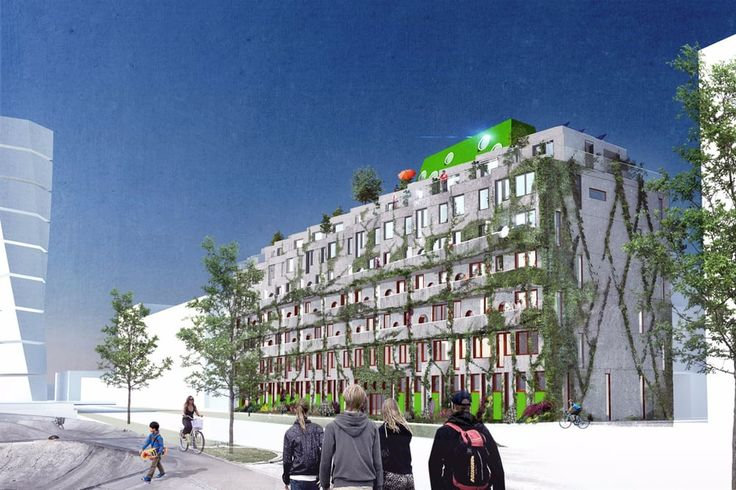 Cykelhuset Ohboy will comprise 55 apartments, ranging in size from 1-4 bedrooms…