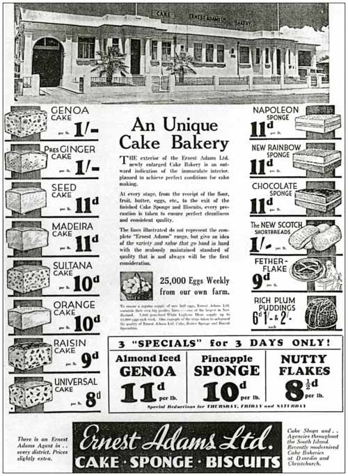 Ernest Adams cakes