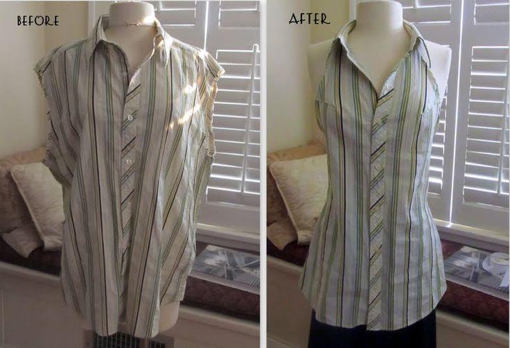 Men's Shirt to Halter, DIY: Projects, Halter Tops, Men'S, Dresses Shirts, Men Shirts, Diy Clothing, Plaid Shirts, Wobisobi, Halter Dresses