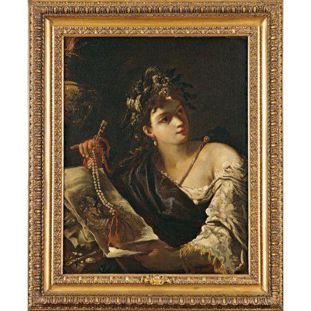 Allegory Of Painting (Allegoria Della Pittura) Canvas Art - (18 x 24)