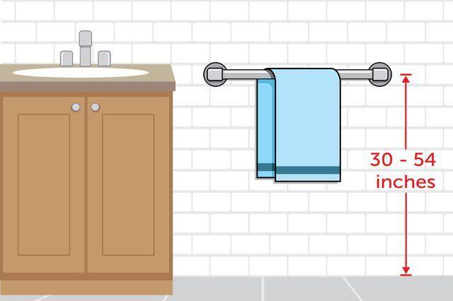 Proper Height For Towel Bar Installation Bathroom Towel Bar Towel Bar Towel Bar Height