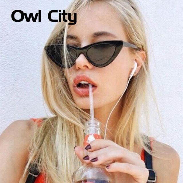 aff70e1da056c Óculos de sol vintage 2018 -  moda  modafeminina  óculos  glasses   eyeglasses - Owl City Vintage Women Sunglasses Cat eye Eyewear Brand  Designer Retro ...