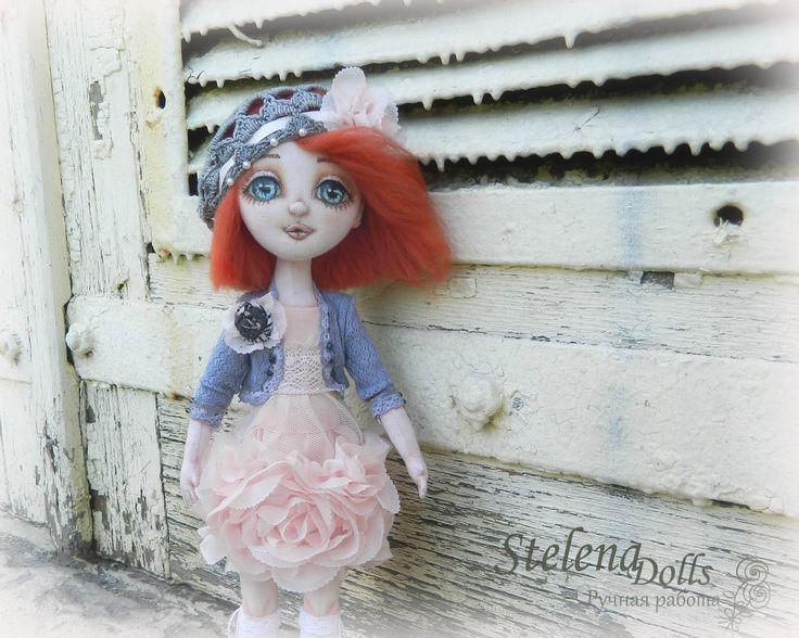 Текстильная авторская кукла Selena dolls