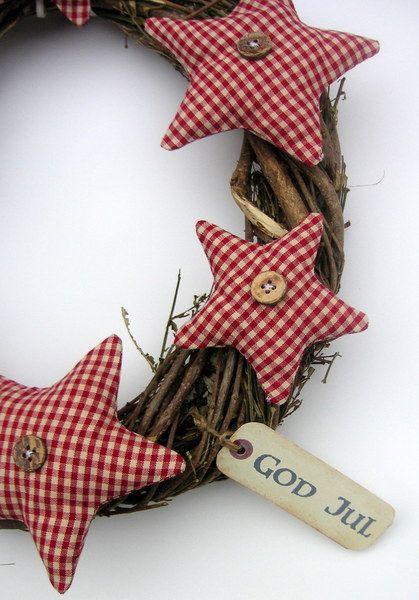 """weihnachtlicher Weidekranz """" God Jul"""""""