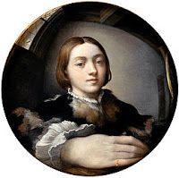 Le peintre Parmesan se représenta à travers un miroir déformant au 16eme siècle