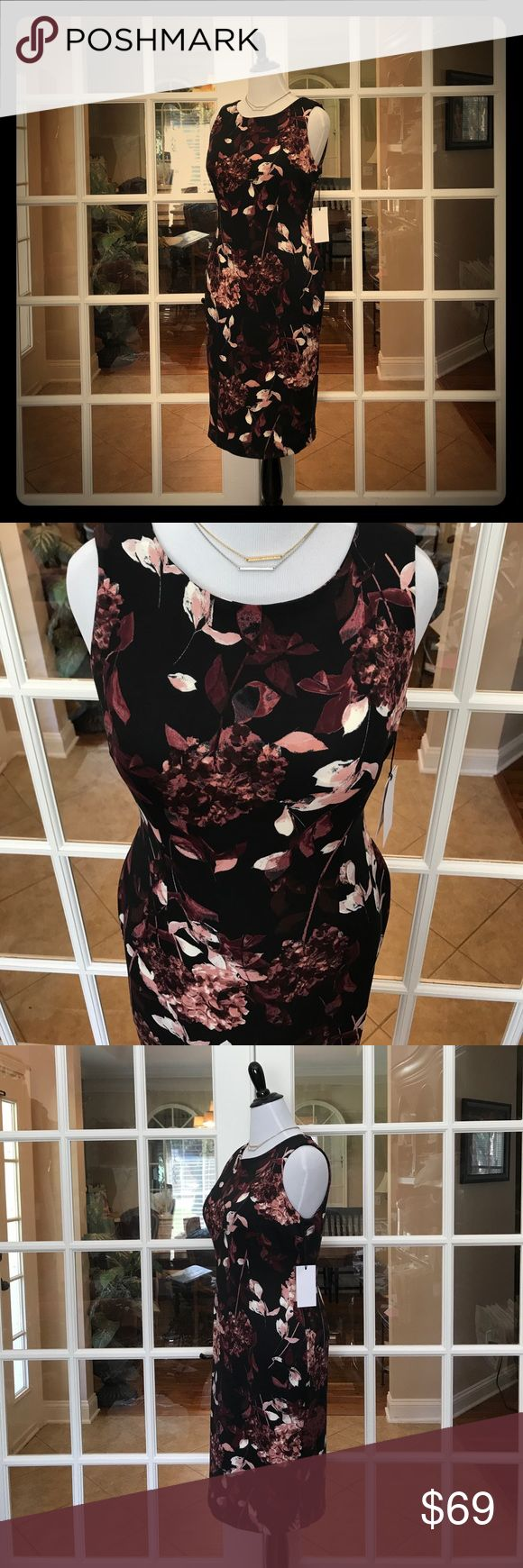 🆕 Ivanka Trump Floral Midi JUST IN‼️- This Ivanka Trump Floral Midi is gorgeous!    Back of the dress unzips and you can release the bottom to open the slit for more leg room if desired.  Dress is soft and has great stretch.   95% Polyester and 5% Spandex!!  💞 Ivanka Trump Dresses Midi