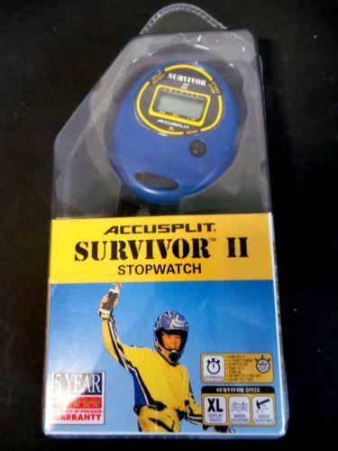 ACCUSPLIT Survivor II - S2XL Stopwatch, Clock Blue  New in Sporting Goods, Fitness, Running & Yoga, Fitness Technology, Stopwatches | eBay