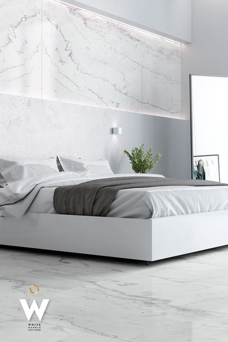 Nights In White Marble The Timeless Quality And Unsurpassed Elegance Of Pirgon Nivatus Makes This Bedro Marble Bedroom Marble Decor Bedroom White Marble Floor