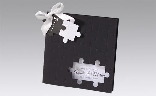 Originele trouwkaarten puzzelstukjes   Timeless Gifts