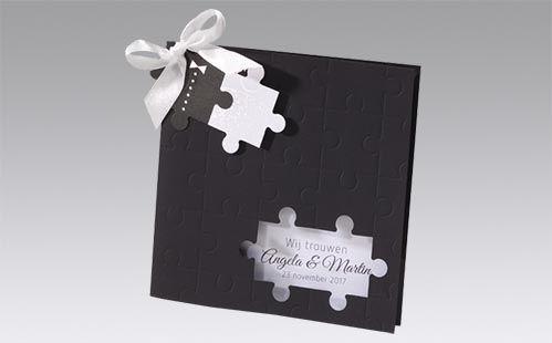 Originele trouwkaarten puzzelstukjes | Timeless Gifts