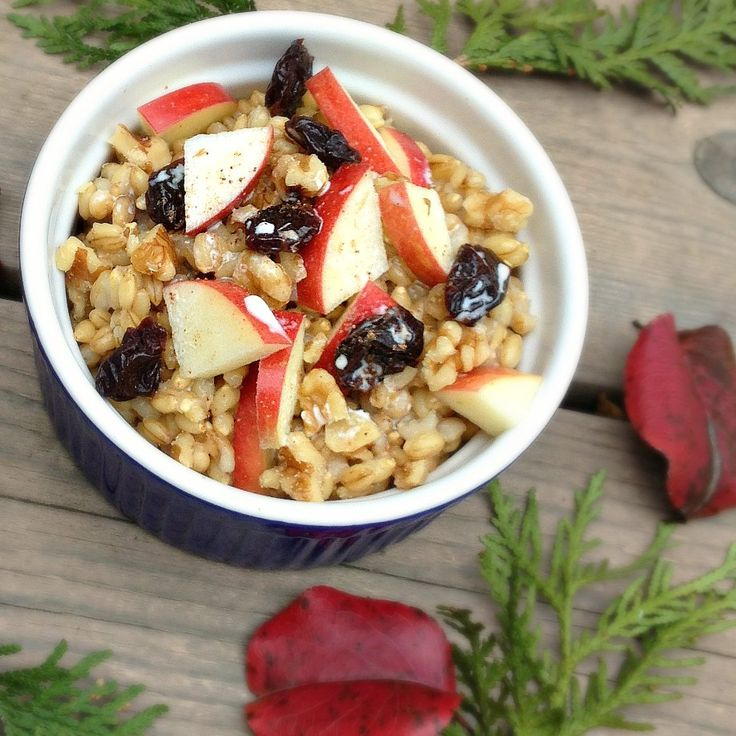 Breakfast Barley with Fruit and Nuts Recipe – The Lemon Bowl: we don't usually associate barley with breakfast, until now! Higher fiber breakfasts keeps hunger at bay all day.