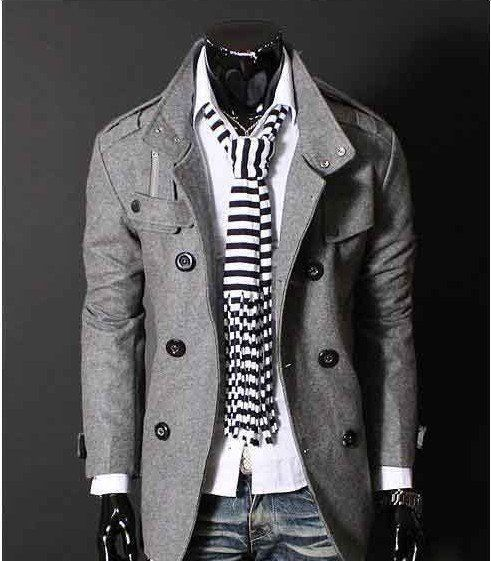 Free Shipping Mens Trench Coat Double Breasted Slim Stand Collar Wind Jacket Woolen F17-in Apparel Accessories on Aliexpress.com