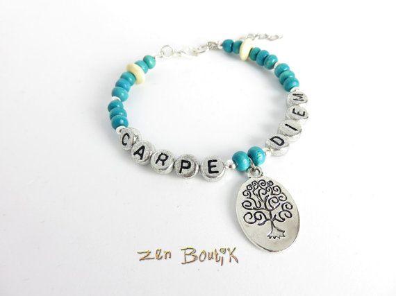 Bracelet Zen Carpe Diem Bracelet Arbre de Vie Perles par ZenBoutik