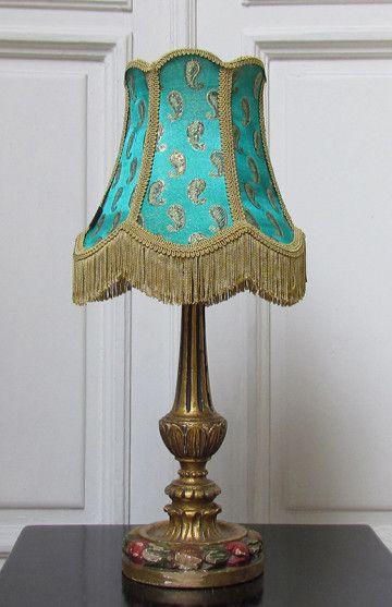 Green Paisley, una lámpara de mesa para dar un toque especial a cualquier habitación. #vintage #lamp #lampara