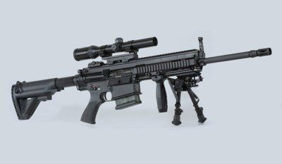 H&K MR556 and MR762: Civilian HK416 and HK417    H&K fans rejoice. The HK416 / HK417 piston driven AR-15 derivatives are finally coming in a semi-automatic form for civilians. The civilian 5.56x45mm HK416 is called the MR556 and the 7.62x51mm HK417 civilian equivalent is the MR762.