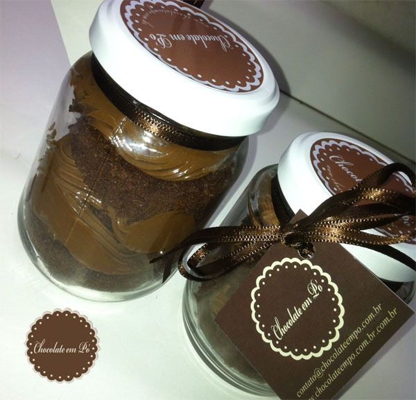 Bolo no pote...: Bolos Cookies, Pote Para, Chocolates Sauces, Was Rosa-Choqa, Of Bringing, Ems Potes,  Chocolates Syrup, Bolo Bolinho Bolõ, Bolos Bolinhos Bolões