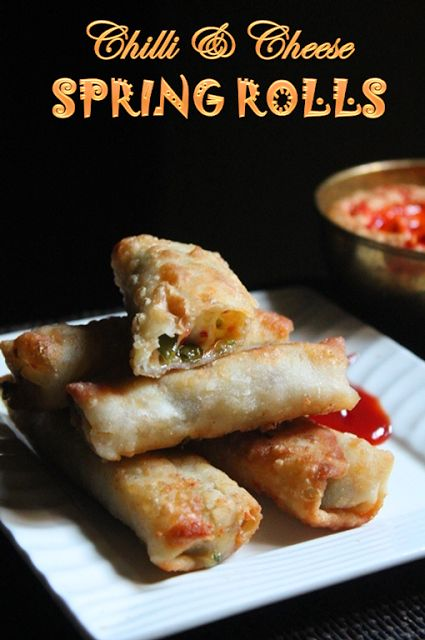YUMMY TUMMY: Chilli and Cheese Spring Rolls Recipe - Cheese Spring Rolls Recipe