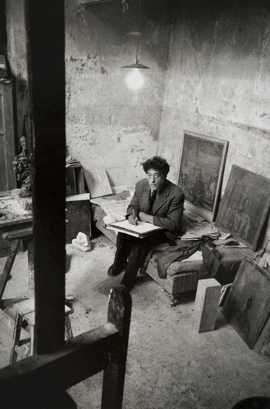 Sabine Weiss (b. 1924) Alberto Giacometti dans son Ateller. 1954