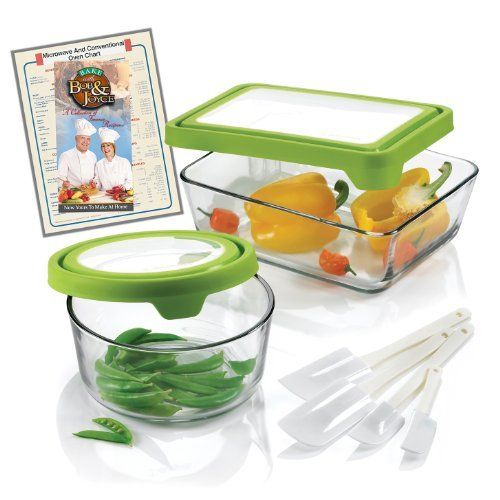 Anchor Hocking 10-Piece Storage Bowl Set with TrueFit TM See-Thru Lid by TKS Int?l LLC dba Ricsb USA. $29.99. One 11-cup rectangular storage dish with lid. Bonus Recipe Book and Cooking Chart. 4-Piece Spatula Set. One7-cup round storage bowl with lid. Glass is dishwasher, microwave and freezer safe. Anchor Hocking 10-piece Storage Bowl Set with TrueFitTM See-Thru Lids. Perfect fit lids, no more struggling to open and close. Glass is dishwasher, microwave and freeze...