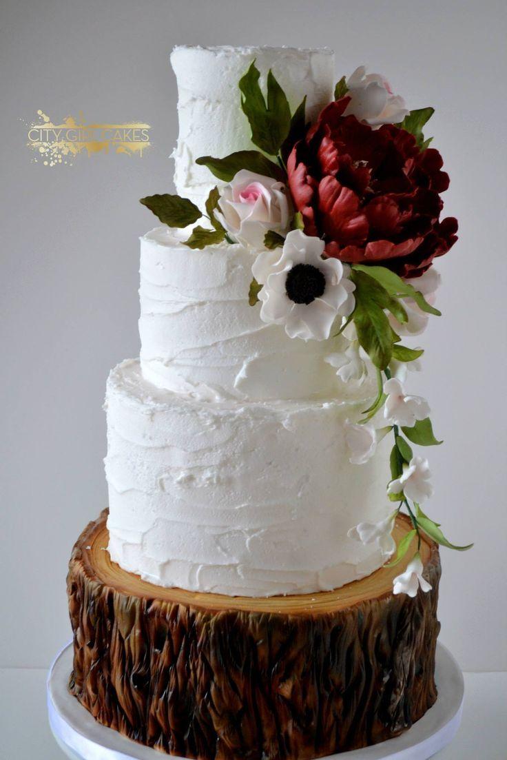 lovely white wedding cake ~  we ❤ this! moncheribridals.com