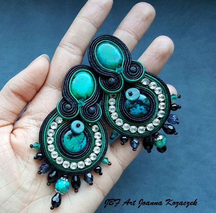 Soutache earrings - JBF Art