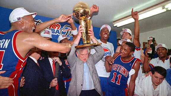 1989 NBA Champion Detroit Pistons. The Bad Boys swept the Los Angeles Lakers 4-0.