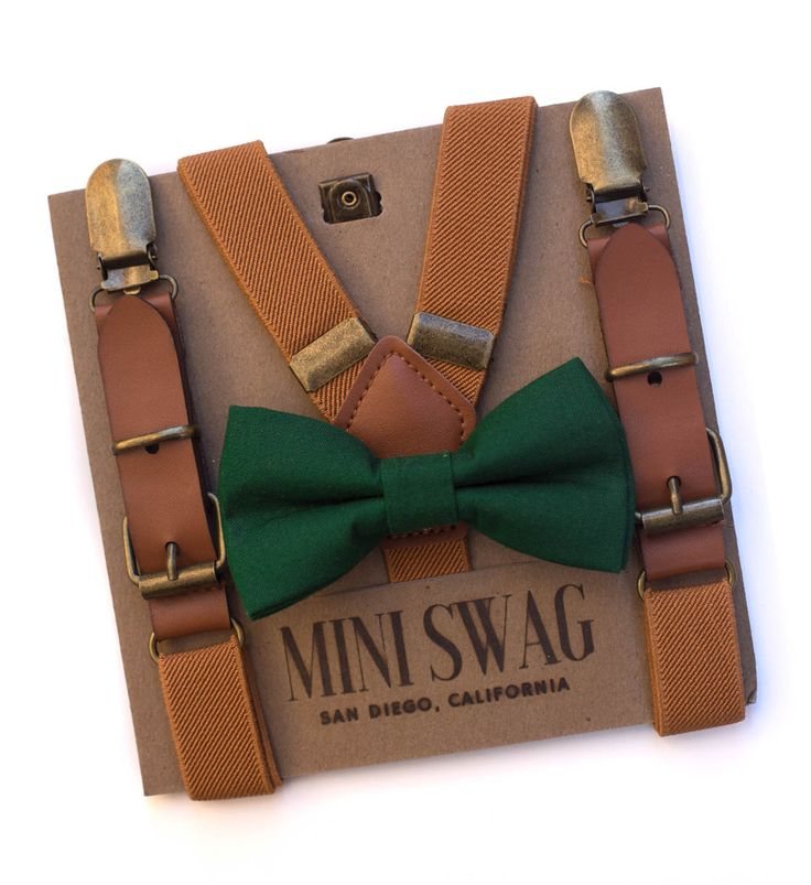 David's bridal Juniper bow tie, ring bearer outfit, toddler bow tie, leather suspenders, boys wedding outfit, Christmas outfit for boys, Santa pictures, dark green, hunter green, forest green, little boy fashion, cute kids clothes, toddler suspenders