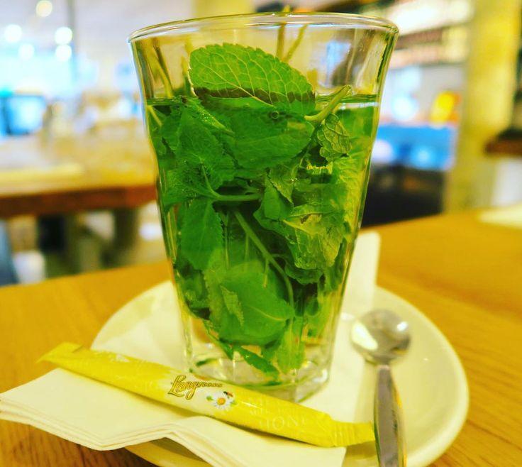 Fresh mint tea with honey.  オランダと言えばハイネケンショコラメル間違えて入れたコーヒーそしてミントティ リフレッシュにもってこいな爽やかな香り . . . #amsterdam #netherlands #holland #travel #trip #worldtraveler #mint #minttea #harbtea #tea #dutchdrinks #drinks