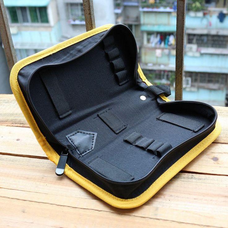 多機能ドライバーツールバッグ耐久性600dオックスフォード布丈夫なプラスチック板側簡単オープン多機能使用収納袋
