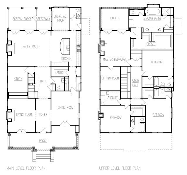 American foursquare floor plans google search house design pinterest - Master on main house plans image ...