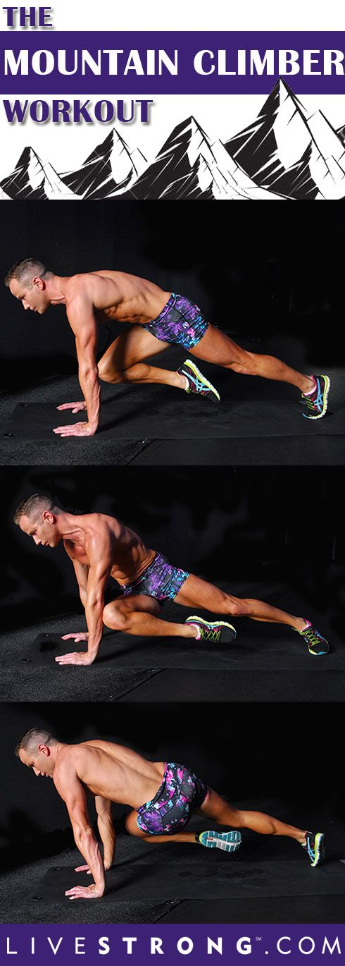 This Mountain Climber Workout will get your legs moving, heart pumping and body sweating! Click thru for the complete workout breakdown.