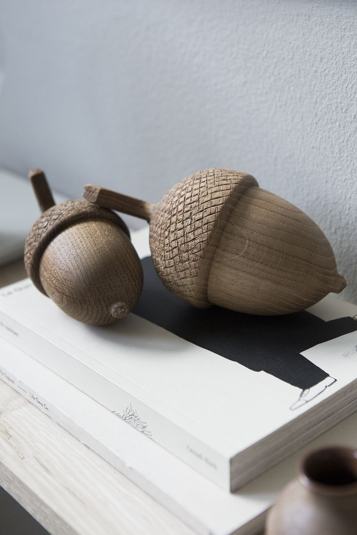 Wooden Acorns by Alexander Ortlieb. Available at www.grandpastore.com