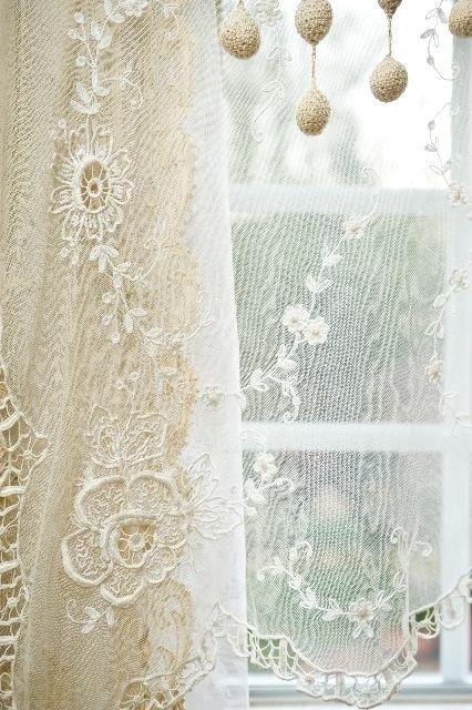 Lady Lacious,  lace curtain