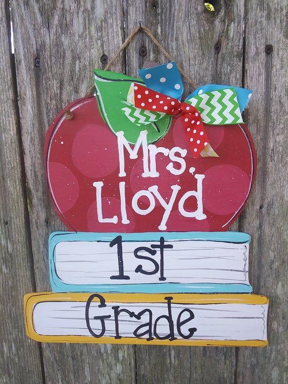 Teacher Door Hanger Personalized