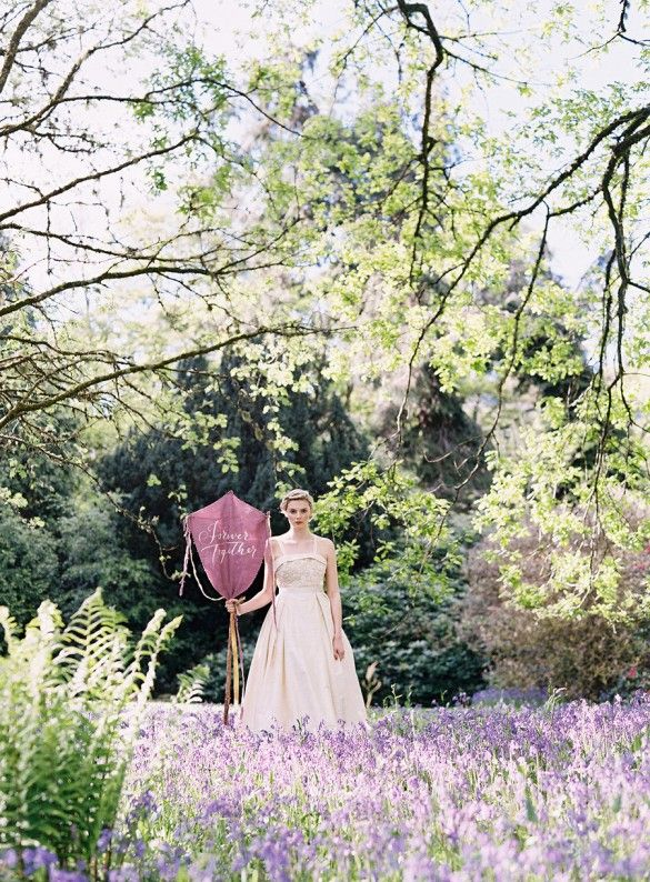 A Scottish Bride at a beautiful Scottish wedding venue, curated by Scottish Wedding Planners  Knot & Pop