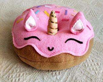Unicorn Pillow Unicorn Donut Pillow Plush Pink Free Shipping Unicorn Pillow Unicorn Donuts Donut Pillow