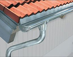 Stainless Steel Gutters - long life, least expensive. Disadvantage - maintenance required.