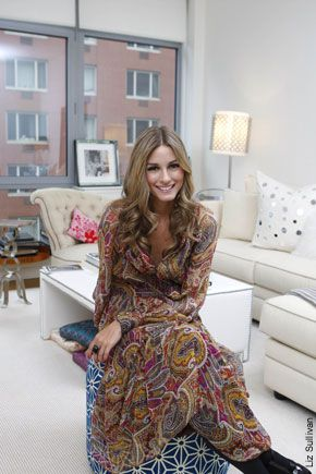 Olivia Palermo's apartment in Tribeca, NYC.