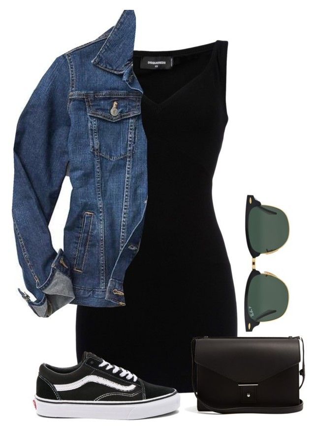 """""""#275"""" by mintgreenb on Polyvore featuring Dsquared2, Gap, Vans, PB 0110 and Ray-Ban"""