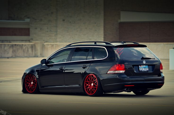 vw passat wagon custom | ... Custom candy red paint on the outside of this hot wagon matches the