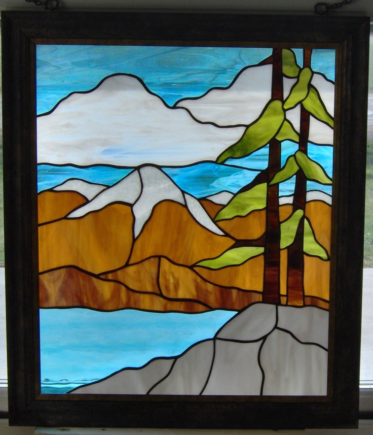 426 Best Images About Stained Glass Landscape On Pinterest