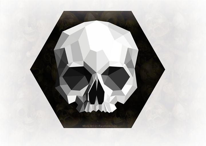geometric skull by RoyThaDon.deviantart.com on @DeviantArt