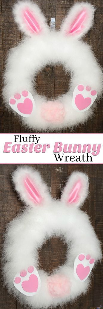 This DIY Fluffy Easter Bunny wreath craft project is so adorable and simple! Our tutorial is so easy that you can make this Easter Wreath in 30 minutes or less. And it's so fun that kids and adults alike can have fun while still looking amazing for your front porch! It's the perfect Easter Craft for a limited budget and time. Follow us for more Easter Decorating Ideas.