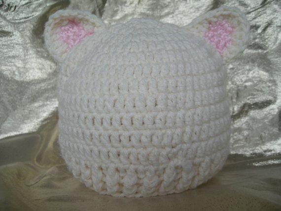 Bear Hat, Baby hat, Hat, Newborn hat,  Crochet, Crocheted Hat, Animal Hat, Handmade by CelinaRoseDesigns on etsy, $12.00